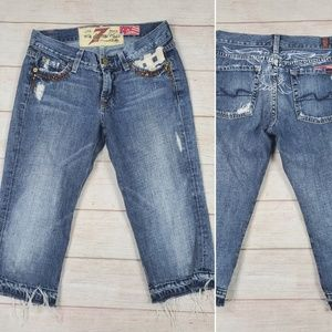 7 For All Mankind Distressed Jean Capris